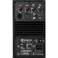 """Skytec 20cm (8"""") aktiv PA-Lautsprecher Boxen (200W, Line-Out, Flansch) transportabel"""