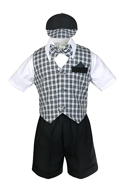 Amazon.com: unotux Boy Eton Formal Traje Corto De Chaleco ...
