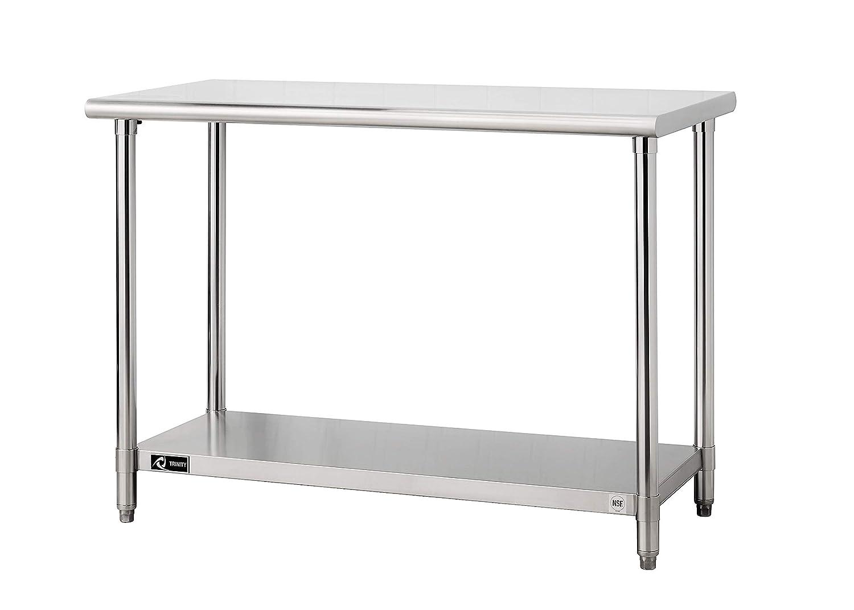 Trinity TLS-0201 EcoStorage NSF, 48-Inch Stainless Steel Utility Table,