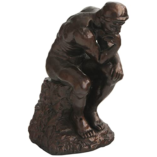 Culture Spot Thinker Statue by Rodin with Bronze Finish, Museum Replica Master Piece, 7 in Height