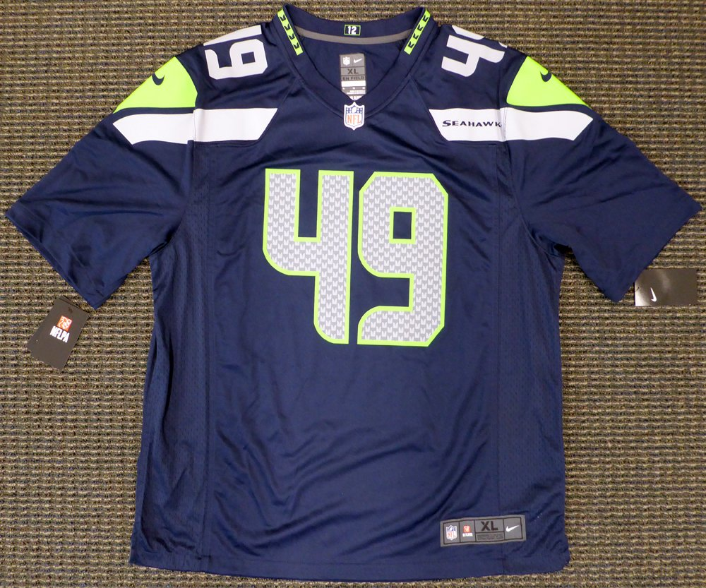 27ee9841c Seattle Seahawks Shaquem Griffin Autographed Blue Nike Jersey Size M MCS  Holo at Amazon's Sports Collectibles Store
