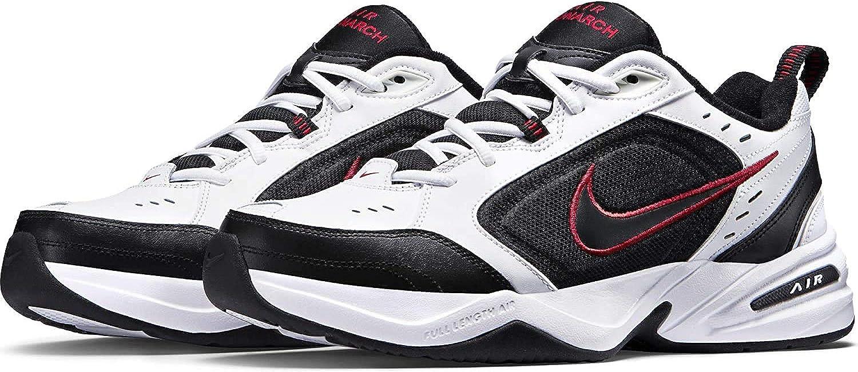 Nike Air Monarch Iv, Basses et Slip-on Homme Blanc Noir