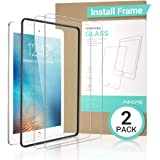 [2 Pack] iPad 9.7 in (2018/2017) / iPad Air 2 / iPad Pro 9.7 in/iPad Air Screen Protector,[Easy Installation Frame], Ainope New Tempered Glass Screen Protector, Apple Pencil Compatible, Anti-Scratch