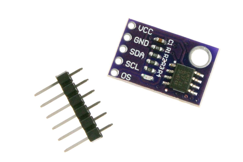 Noyito Lm75 High Precision Temperature Sensor Module Schematic Speed I2c Interface Lm75a Development Board Computers Accessories