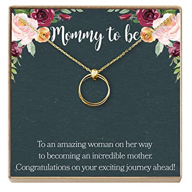 584be117b7055 Dear Ava Necklace: Pregnant, New Mom, Expectant Mother, Pregnant Friend, 2
