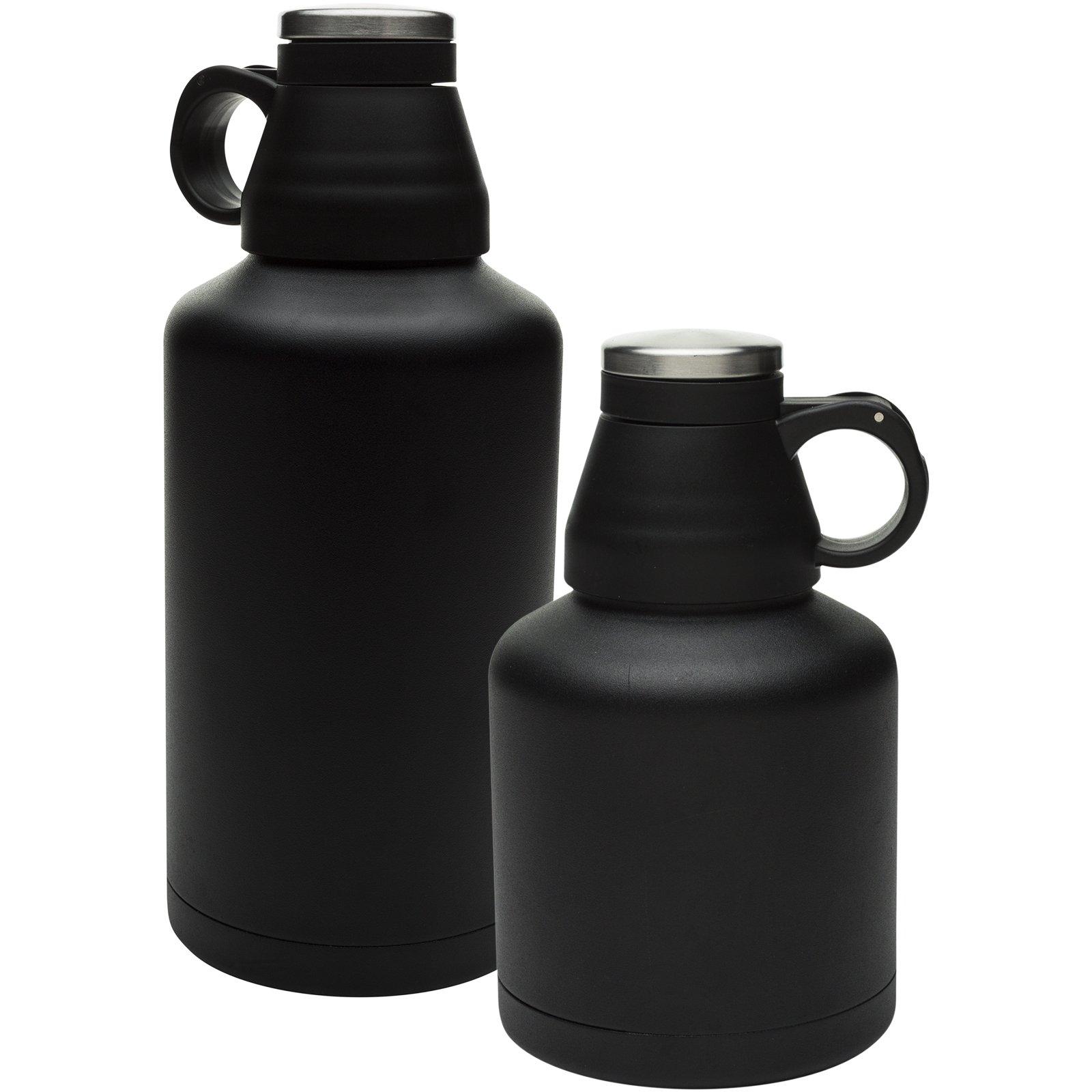 Zak Designs Arcadia 64 oz. Double-Wall Vacuum Insulated Growler, Black, 2 piece set
