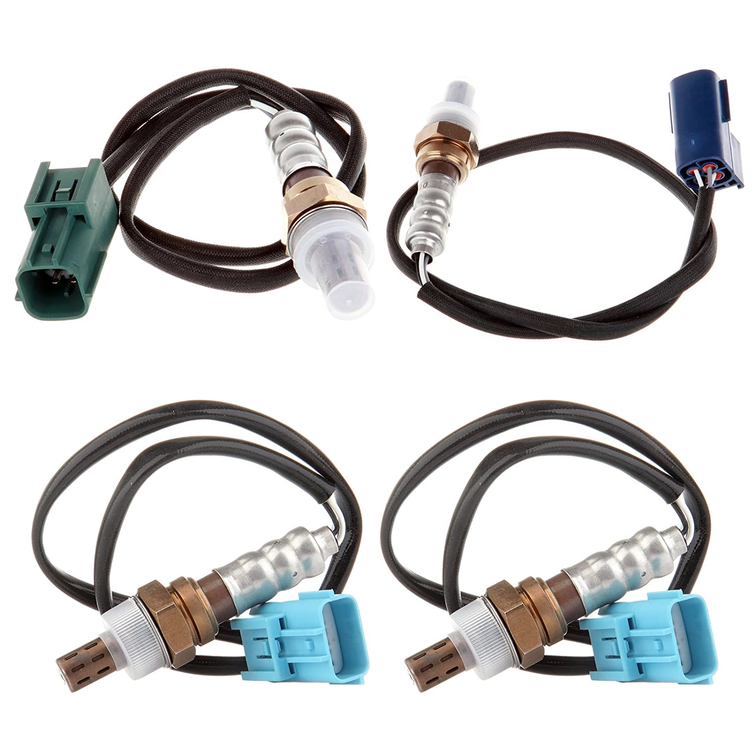 4pcs Oxygen O2 Sensor 1 2 Upper /& Under For 2002 2003 Nissan Altima 3.5L