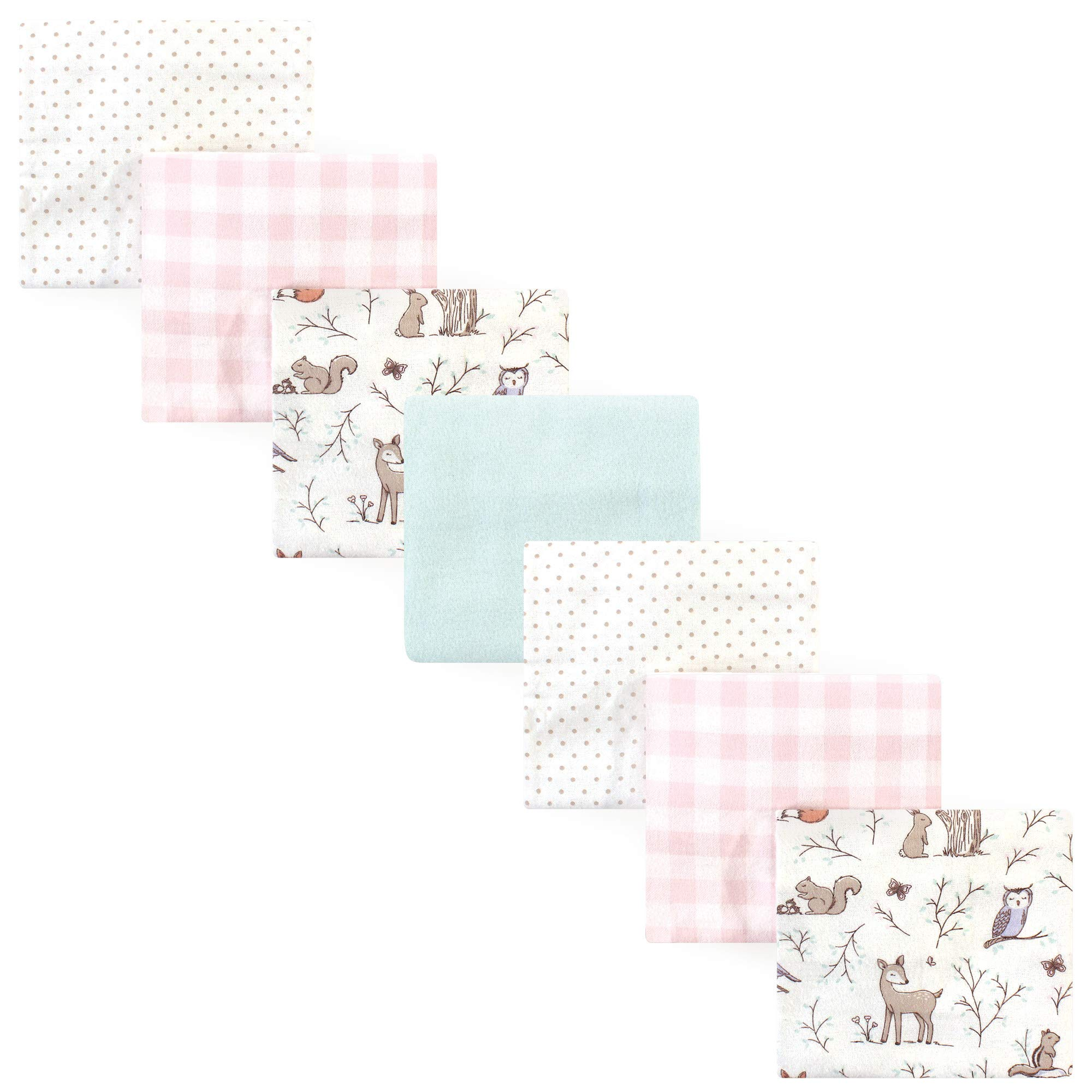Hudson Baby Unisex Baby Cotton Flannel Receiving Blankets, 7-Pack, Enchanted Forest, One Size by Hudson Baby