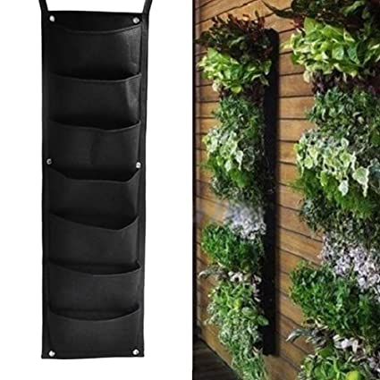 NUMBERNINE,Indoor Outdoor Wall Balcony Herbs Garden Hanging Planter Bag  Plant Pots Boxes ,garden