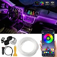Car LED Interior Strip Light, 16 Million Colors 5 in 1 with 236 inches Fiber Optic, Multicolor RGB Sound Active…
