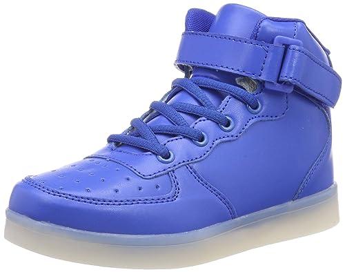 77f3e5893e70b1 FLARUT Hoch Oben USB Aufladen LED Leuchtend Leuchtschuhe Blinkschuhe Sport  Schuhe für Jungen Mädchen Kinder(
