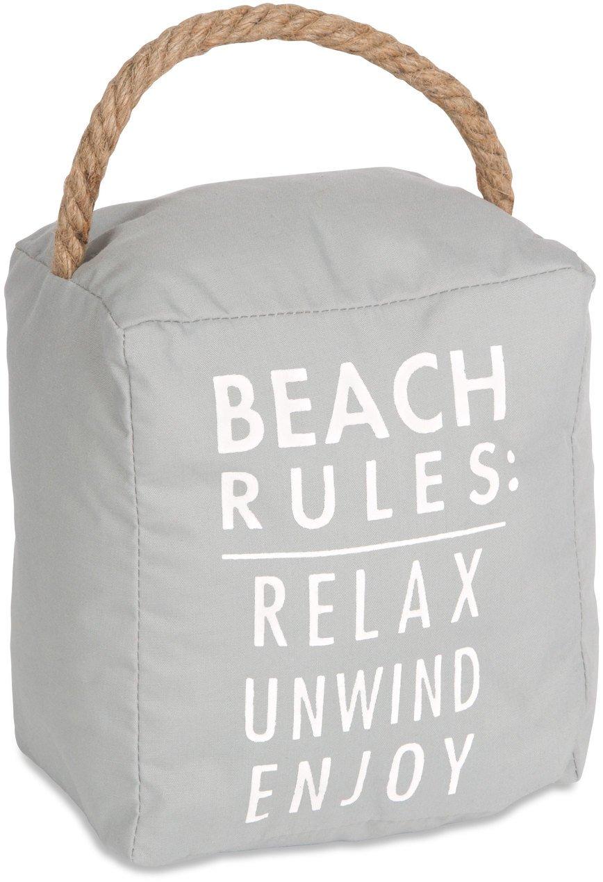 Open Door Décor Door Stoppers Beach Rules: Relax Unwind Enjoy