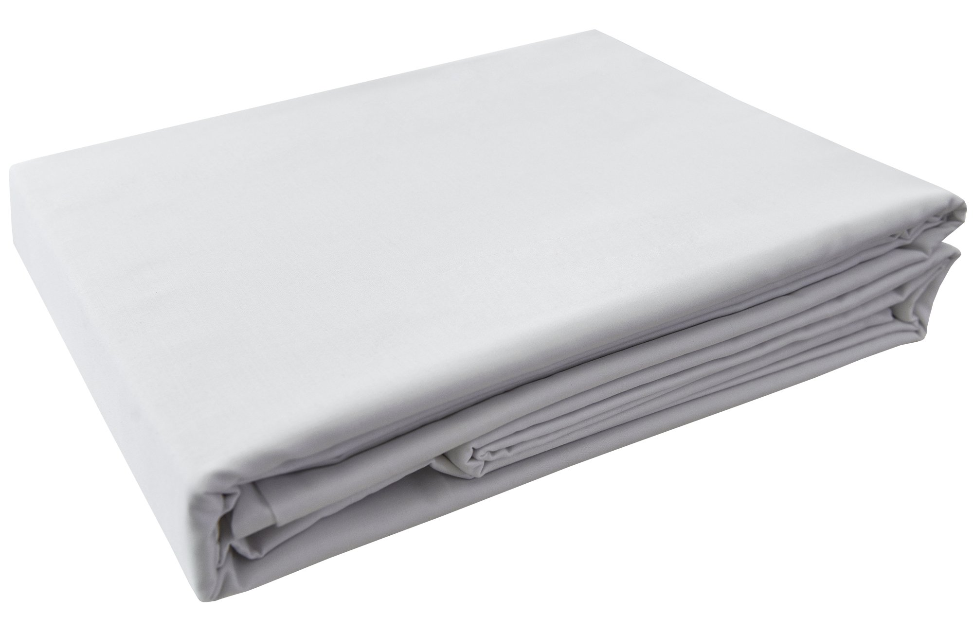 PHF Hotel Collection Flat Sheet 200T Cotton Polyester Percale 1 Piece King Size White
