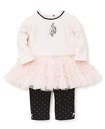 df1b5c9764b37 Little Me Baby Girls Tutu Legging Set, Ballet Barely Pink/Silver/Jet Black