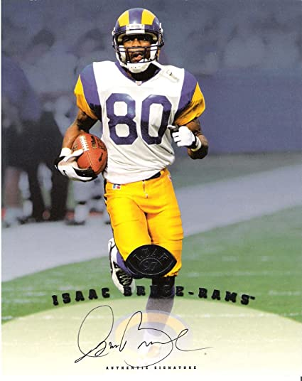 1de1bf2a Signed Isaac Bruce Picture - #80 WR Certified 1997 DONRUSS LEAF 8x10 ...