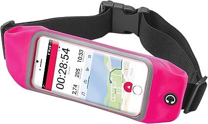 Celly Riñonera Deportiva Smartphone, Cinturón Impermeable Running para Smartphones de hasta 6,2 Pulgadas con Bolsillos, Cremallera y Correa Ajustable, Rosa: Amazon.es: Electrónica