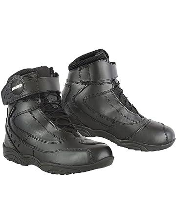 Bottes Chaussures Moto Conducteur pour Homme Garçon Hiver Cuir Noir Étanche d0b07e60f0bd