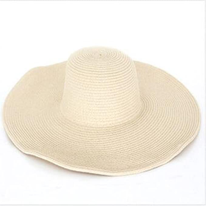 Dorathywatm New Summer Fashion Floppy Straw Hats Casual Vacation Travel Wide  Brimmed Sun Hats Foldable Beach Hats for Women with Big Heads Beige   Amazon.ca  ... bc61925c2a64