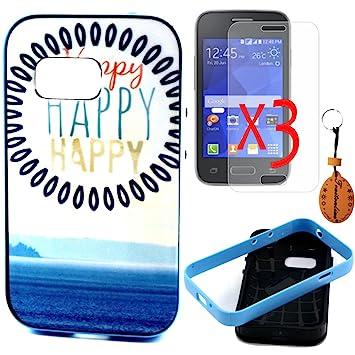 Traitonline Pintura Colorida Serie Carcasa Galaxy Young 2 Cover Funda Cubierta Cuero Carcasa Cubierta para Samsung Galaxy Young 2 SM-G130 ...