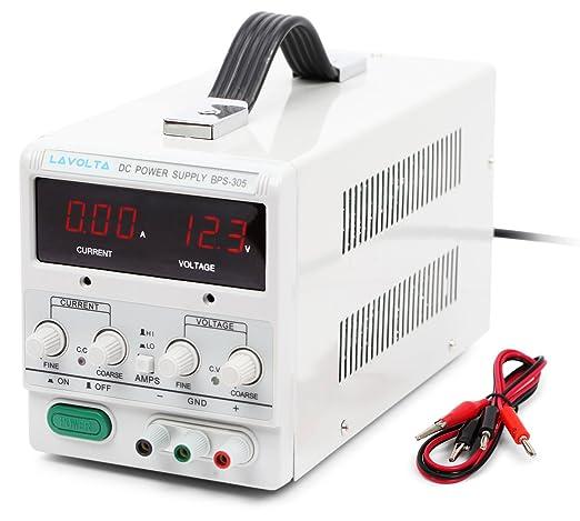 37 opinioni per Lavolta BPS305 Alimentatore da Laboratorio DC Regolabile Stabilizzato 0- 30V / 0
