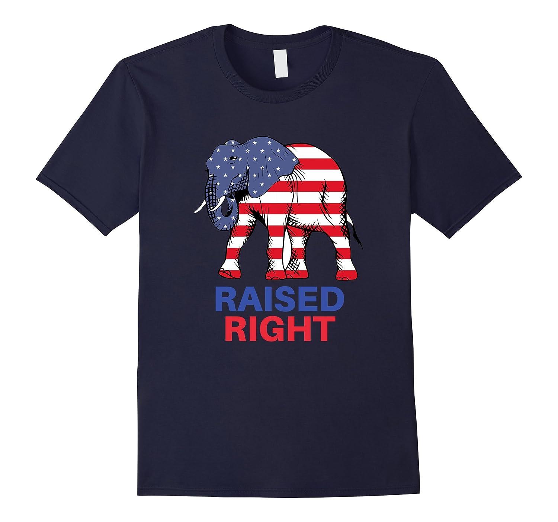 Raised Right Republican Elephant T-Shirt-Art