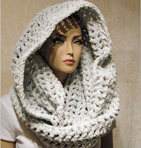 Amazon Handmade Crochet Infinity Scarf Oversized Chunky Scarf
