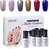 HNM Gel Nail Polish 6pcs Set UV LED Soak Off Mixed 6 Colors Manicure Starter Kit Gift Box