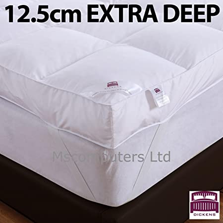 125cm Deep Extra Thick Dickens Mattress Topper Goose And Down