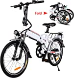 "20"" Folding Electric Bike with Removable Large Capacity Lithium-Ion Battery (36V 250W), Electric Bicycle 7 Speed Gear…"