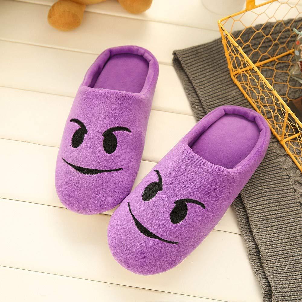 Manadlian Pantoufles Automne Hiver Coton Peluche Chaussons Doublure Int/érieure Douce Mules Femme Homme Accueil Slippers Chaussures Chaussons Maison