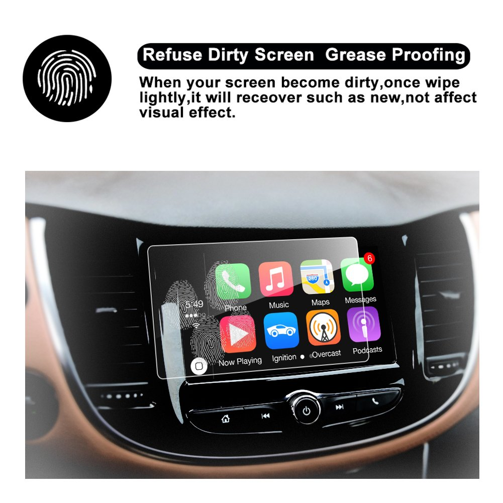 HD Clear Car Navigation Screen Protective Film RUIYA TEMPERED GLASS Protector Compatible for 2017 2018 Trax MyLink 7-Inch In-Dash
