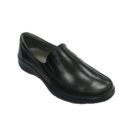 Zapato Mujer Tipo mocasín Pitillos en Negro: Amazon.es: Zapatos y complementos
