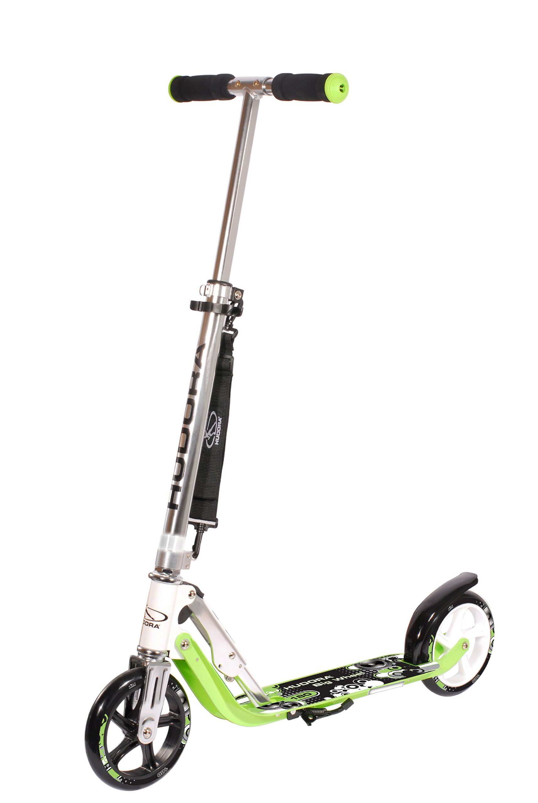 Hudora Big Wheel 180 - Patinete clásico, color verde product image