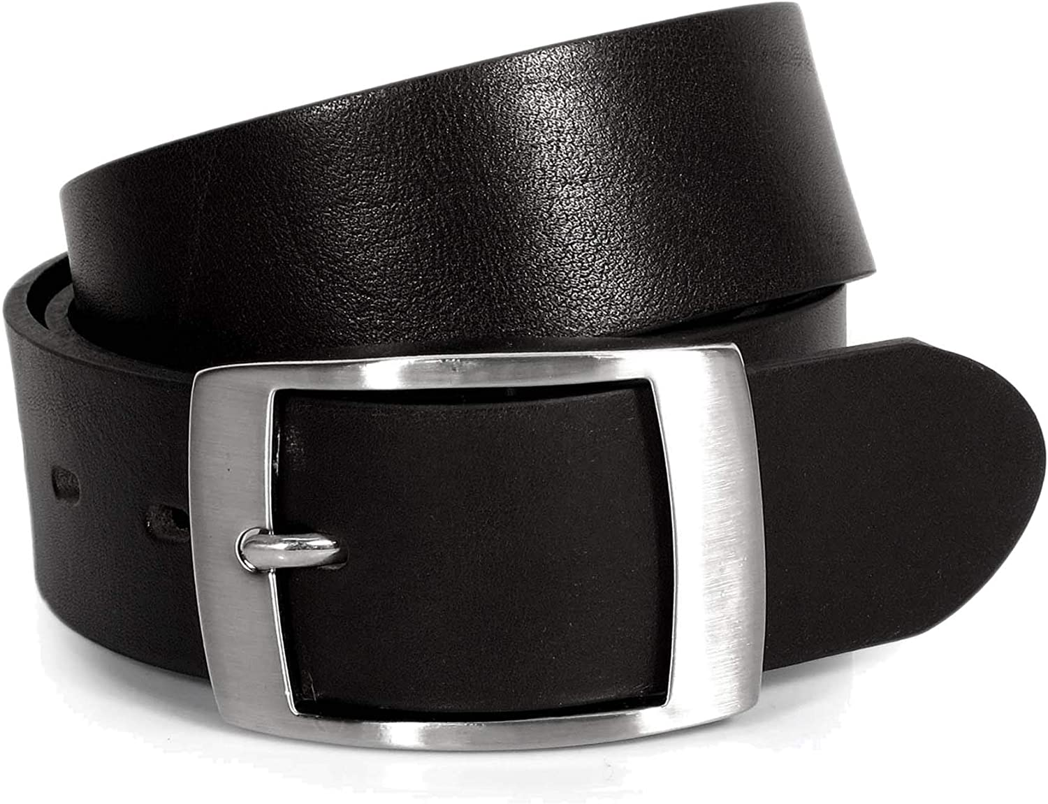 CW7 Womens Real Genuine Leather Black Belt 1.5 Wide S-XL Thick Long Casual Jeans