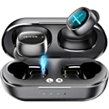 Wireless Earbuds,5.0 Touch Control Bluetooth Headphones with Charging Case,HD Stereo True Wireless Sport in-Earphones Builtin