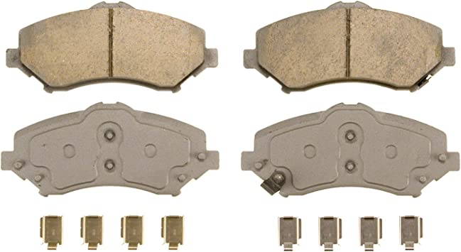 Wagner ThermoQuiet QC1326 Ceramic Disc Pad Set With Installation Hardware Rear