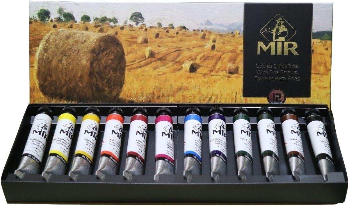 MIR Pack OLEOS Set con 12 Tubos de Pintura al óleo Campos. Gama de 12 Colores. Tubos de 20ml.: Amazon.es: Juguetes y juegos