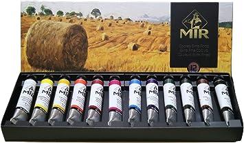 MIR Pack OLEOS Set con 12 Tubos de Pintura al óleo Campos ...