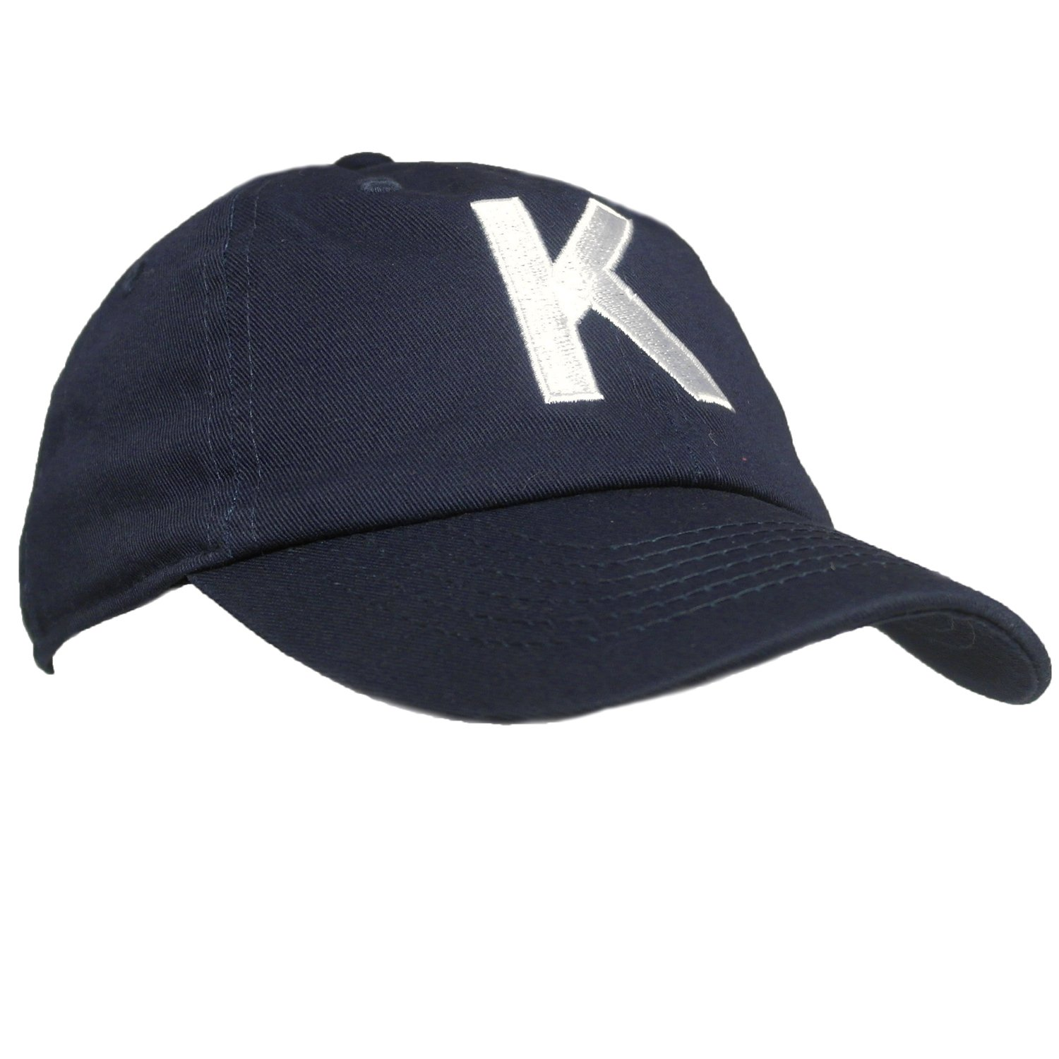 Tiny Expressions Toddler Boys' and Girls' Navy Embroidered Initial Baseball Hat Monogrammed Cap (K, 2-6yrs)