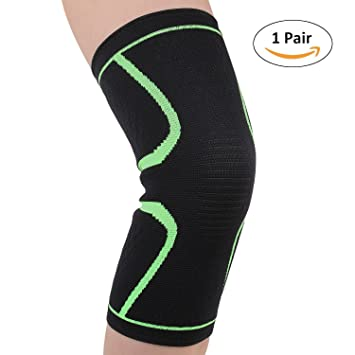 33231eaddb Knee Compression Sleeves Knee Brace Support for Men Women Arthritis Pain  Relief None-Slip Knee
