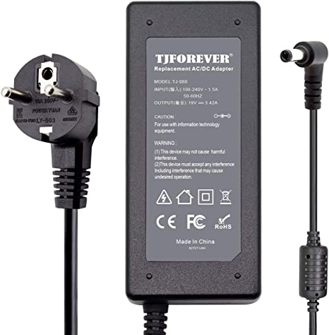Chargeur Ordinateur Portable ASUS 19V 3.42A 65W pour ASUS N17908 V85 X555l X550C K52F K55 Alimentation Adaptateur Secteur Connecteur: 5.5 * 2.5mm