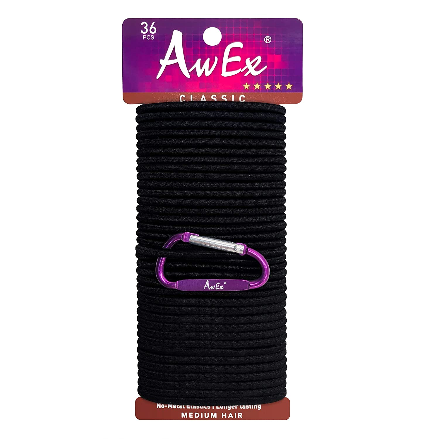 Amazon.com   AwEx Strong Black Hair Ties eac40517a87
