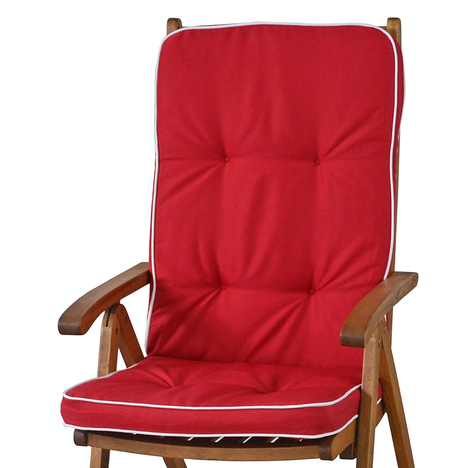 /White sun garden 4x Cushion for High-Backed Chair Tomiro 50077/ /33/Red No Armchair/