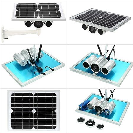 Cámara IP Solar HD1080P WiFi Cámara IP de Seguridad al Aire Libre WiFi Vigilancia doméstica inalámbrica 12 W Control Remoto de Red de vigilancia agrícola ...