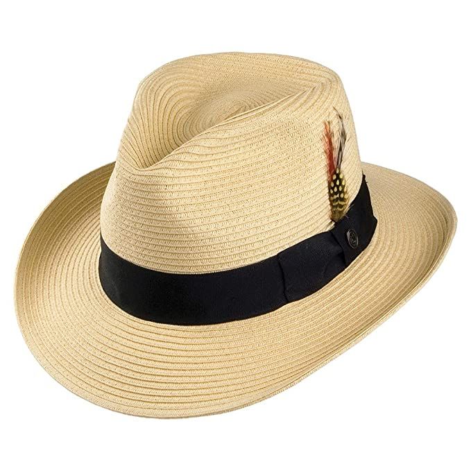 1950s Men's Clothing Jaxon & James Summer C-Crown Fedora - Natural £27.95 AT vintagedancer.com