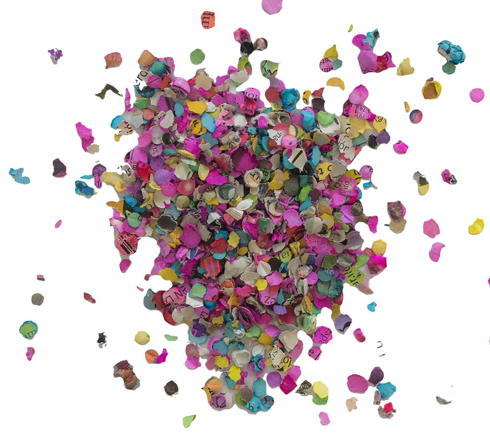 Multicolored Mexican 17.6 Oz Jumbo Confetti Bag- Multicolor All kind of celebrations Ecological and Naturally Dyed - FIesta Confetti - Confetti toss