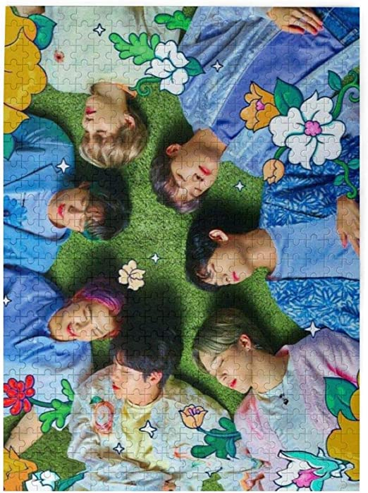 BTS Puzzles for Adults 500 Piece Wooden Jigsaw Puzzle for Teens Adults and Family-Challenging Family Game, Great Gift