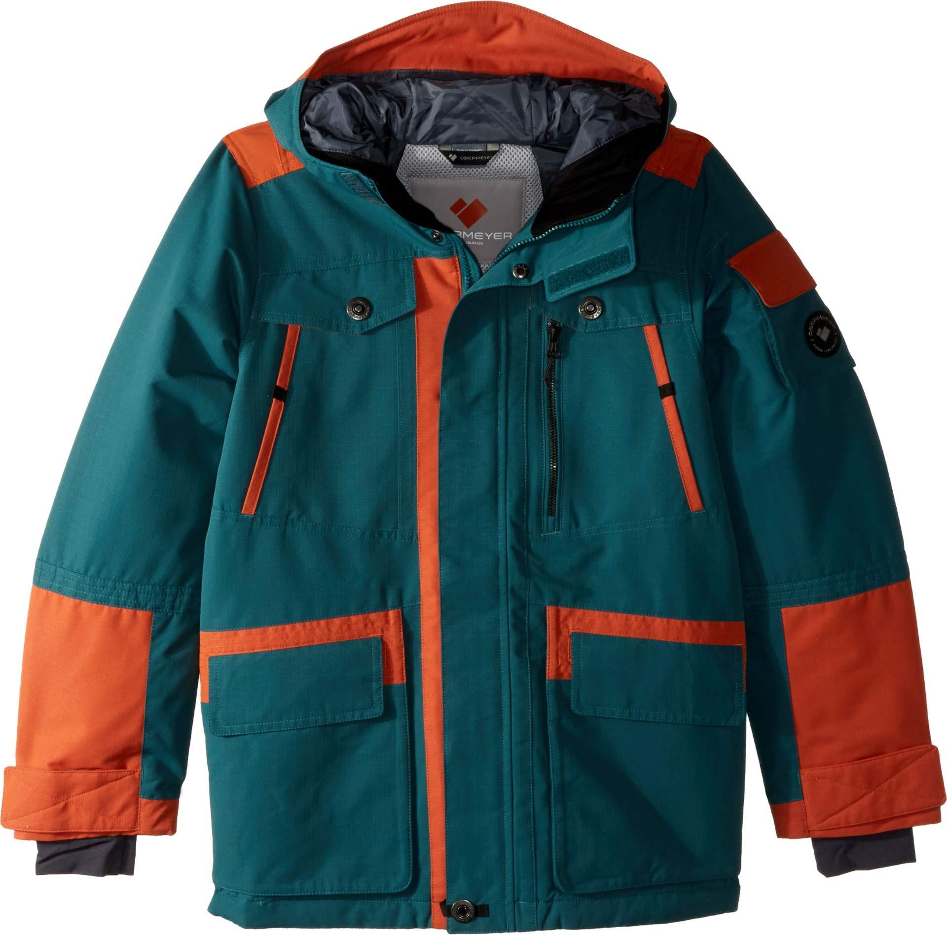 Obermeyer Kids Boy's Trekk Jacket (Little Kids/Big Kids) Deep Pacific Large