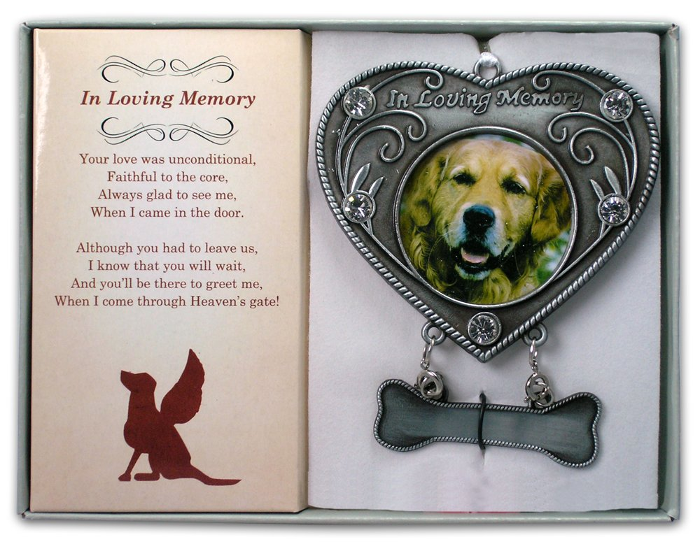 Amazon.com: Dog Memorial Photo Ornament - In Loving Memory Dog ...