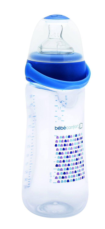 B/éb/é Confort Biberon Perfect Sense Physiologique avec Clip Anti-fuite 360 ml T2 Blanc